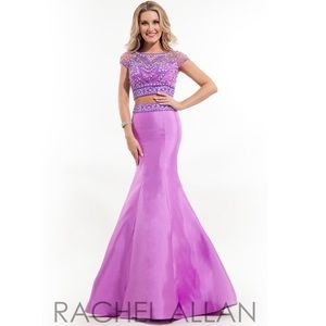 Rachel Allen 2 Piece Mermaid Prom Dress Size 6